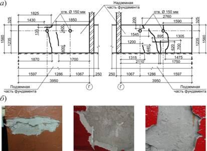 Схема расположения трещин на